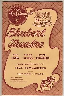 "Richard Burton Playbill ""Time Remembered"" 1954 TRYOUT Susan Strasberg"