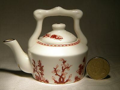 Coalport   Miniature Kettle    Indian Tree