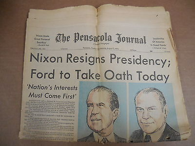 President Nixon Resigns, Gerald Ford Takes Over - Pensacola Journal Newspaper
