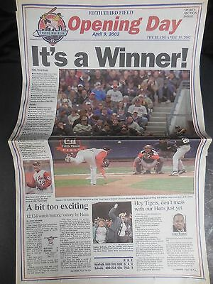 Vintage Newspaper - Toledo Mud Hens Play First Game in Fifth Third Field - 2002