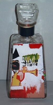 Empty 1800 Limited Edition Tequila Bottle Artist Series Jean Michel Basquiat