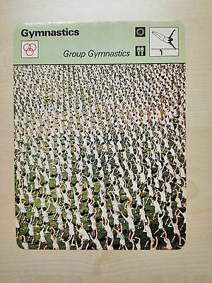 GYMNASTICS 'GROUP' Sportscaster Rencontre Fact Card -  Rare