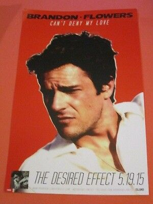 Brandon Flowers - Desired ... Promotional Poster for LP CD RARE the killers