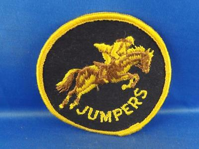 Horse Jumping Vintage Rodeo Hat Jacket Patch Race Cowboy Farm Collector