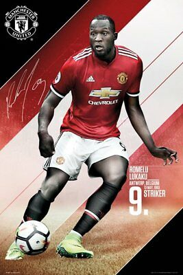 Manchester United FC Poster - Lukaku 17/18  - New MUFC Football poster SP1448