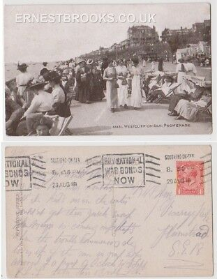 Early Postcard, Essex, Westcliff On Sea, Promenade, Well Dressed  Ladies Outside