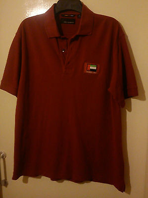 Greg Norman Golf Polo Shirt Dubai Uae Red Size M Medium Great Condition Shark