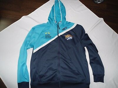 Leeds Rhinos Rugby League Hooded Tracksuit Jacket Shirt Size 2 Xl