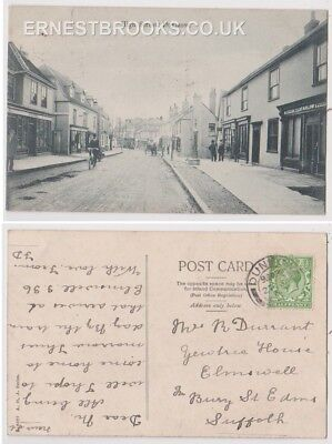 Early Postcard, Essex, Dunmow, High St Old Shop, Carlow Cabinet Maker, 1915