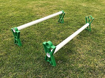 Dog Agility Jump Training Equipment v2 TWIN PACK Dark Green