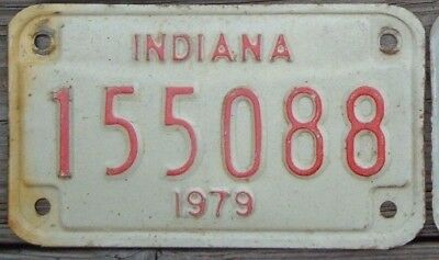INDIANA Vintage 1979 Motorcycle Cycle  License plate   155088   ^