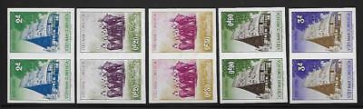 South Vietnam #63-67 Hunters on Elephants 1957 Imperf Pair