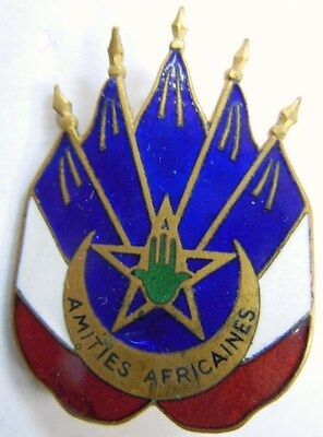 Nords Africains insigne des AMITIES AFRICAINES 1939 authentique