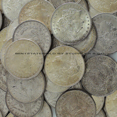 Lot of 50 raw 1921 Morgan $1 VF-XF Silver Dollar coins Very Fine to Extra Fine