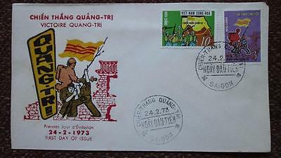 South Vietnam FDC #445-46 Victory of Quang Tri 1973