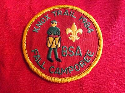 Boy Scouts Bsa Knox Trail District 1984 Fall Camporee Vintage Badge Patch