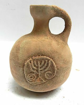Biblical Ancient Terracotta Holy Land Herodian Pottery Jug Clay Wine Water Jar R