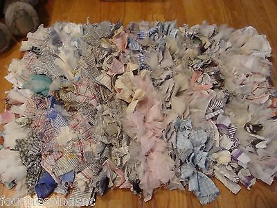 """20"""" X 30"""" Area Rag Rug-Hand Crafted-Multi Colors/fabric-Cottage/shabby-Ooak"""