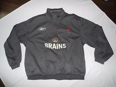 Rare Wales Reebok Players Issue Drill Top Zip Training Jacket Size Xl