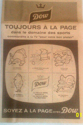 1959 Dow Ale & Sports Original Ad In French