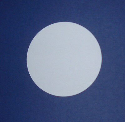 Die Cut Plain Circles In Smooth White Card In 7 size Options