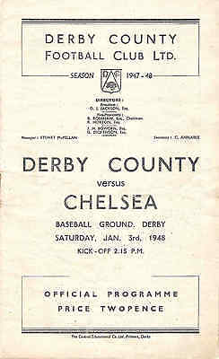 DERBY COUNTY v CHELSEA   1947/8