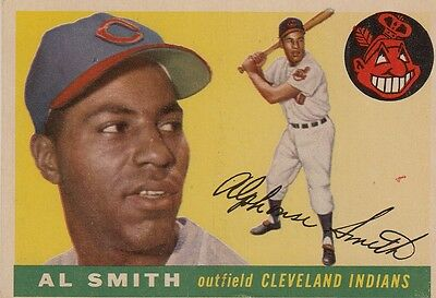 Topps 1955 #197 Al Smith-Cleveland Indians