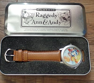 NEW Marcella Raggedy Ann Andy Belindy Watch with Brown Leather Band from Japan