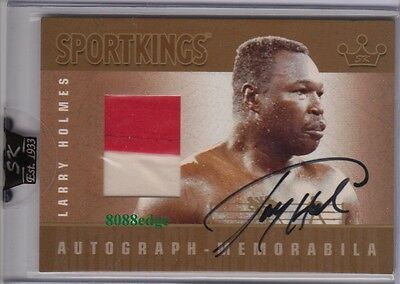 2007 Sport Kings Auto Swatch Gold: Larry Holmes/10 Autograph Heavyweight Champ