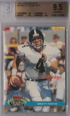 1991 Topps Stadium Rookie Card Rc #94: Brett Favre -Gem Mint Bgs 9.5 With 10 Uer
