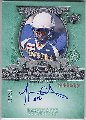2010 Exquisite Nfl Endorsements Auto: Marques Colston #11/20 Autograph Saints