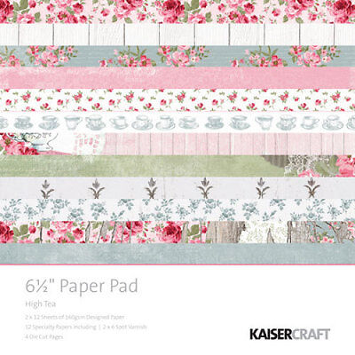 *A&B* KAISERCRAFT Scrapbooking Paper Pads High Tea PP1017