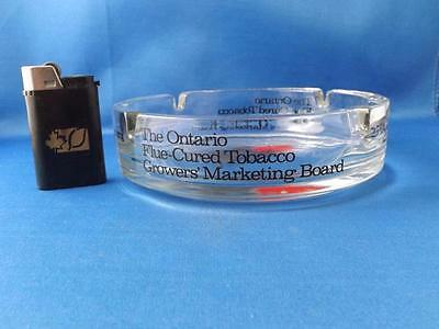 Ontario Flue Cured Tobacco Growers Marketing Board Ashtray & Lighter Advertising
