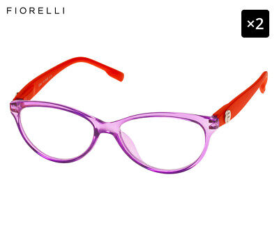 2 x Fiorelli Women's Catwalk Gina Reading Glasses - Violet/Melon