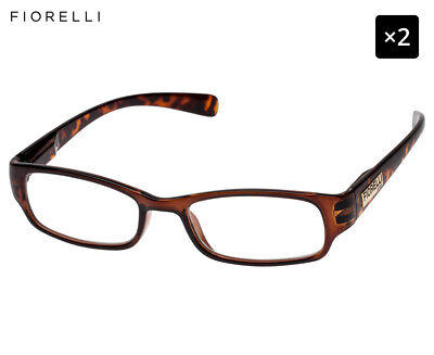 2 x Fiorelli Women's Catwalk Jenny Reading Glasses - Chocolate/Tortoise