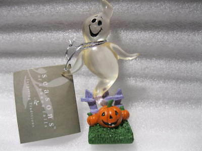 Midwest Seasons Of Cannon Falls Halloween - Happy Acrylic Ghost With Pumpkins