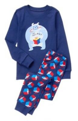 Nwt Gymboree Boy Holiday Christmas Can I Open It Yeti Blue Gymmies Pjs 3 3t