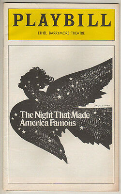 """Harry Chapin  """"The Night That Made America Famous""""  Broadway  Playbill 1975"""