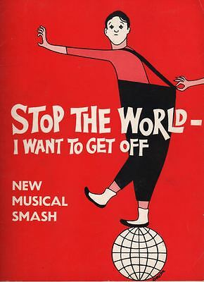 """Anthony Newley   """"Stop The World- I Want To Get Off""""   Souvenir Program  1963"""
