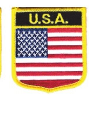 "UNITED STATES USA SHIELD FLAG EMBROIDERED PATCH -- IRON-ON -- NEW 2.5"" x 2.75"""