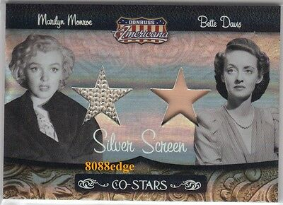 2007 Americana Dual Worn Swatch: Marilyn Monroe/betty Davis #5/25 Co-Stars