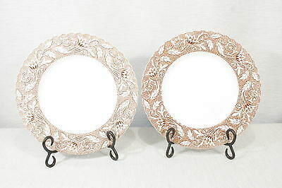"""Lot of Two J.&G. Meakin  LUCERNE  Brown  10"""" Dinner Plates, Exc. Transferware"""