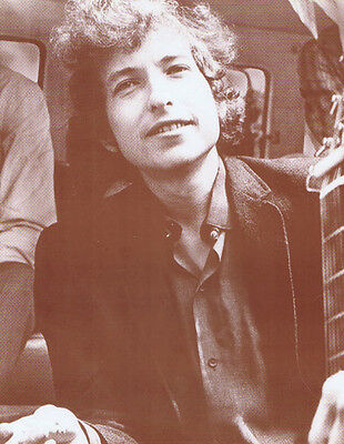 "Bob Dylan Poster Print - Smiling Photo - 11""x14"" Sepia"