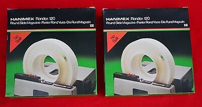 Set Of Two!   Hanimex Rondex 120 Round Slide Magazine - Boxed And Perfect!