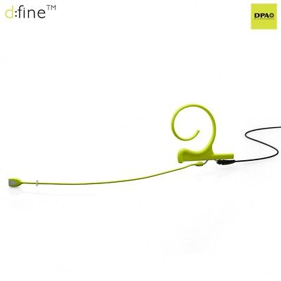 DPA FIOLLB00 Single,Omni, Lime Microphone, Black Cable, 110mm Boom Microdot Used