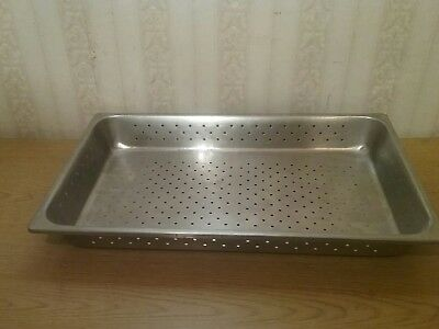 """Commercial Stainless Steel Steam Table Perforated Full Size Hotel Pans 2-1/2"""""""