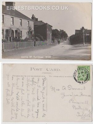 Early Postcard, Norfolk, Swaffham, Watton Road, Old Houses, Nice View,1918,RP