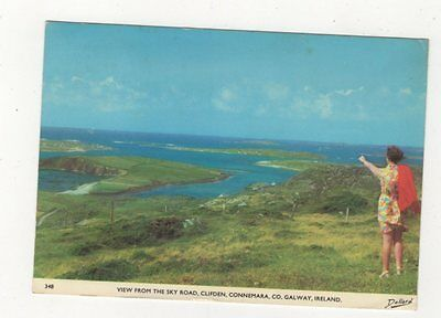 View From Sky Road Clifden Galway Ireland 1973 Postcard 988a