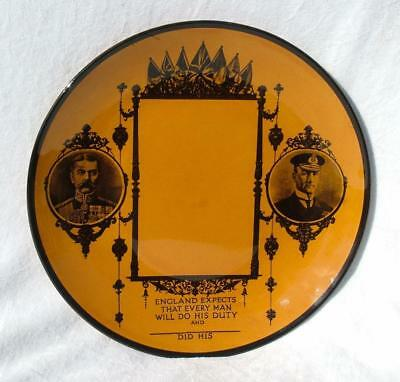 "Rare Ww1 Commemorative ""death Plaque Plate""  Add Picture Of Lost Son / Father"