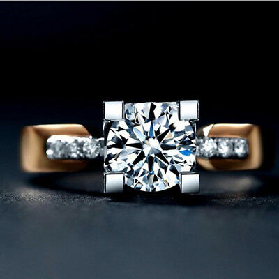 Zirconia Wedding Gold-Color Cubic Zircon Jewelry Ring Engagement Ring